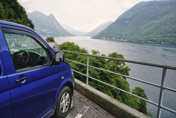 Van on Lake Maggiore