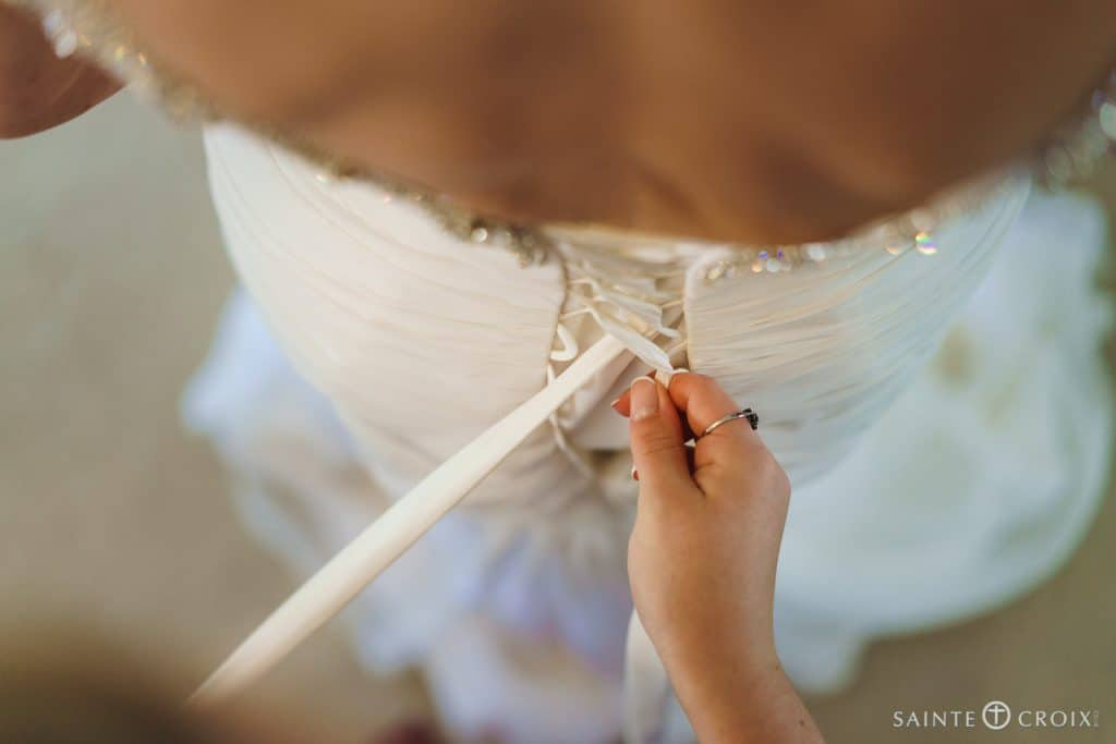 bridal wedding preparation at Southdowns Manor