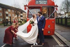 London Wedding Photo London Bus