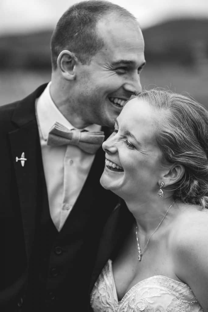 weding couple at Southdowns Manor
